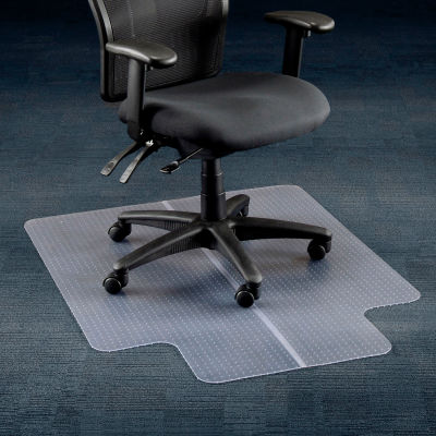 """Interion® Office Chair Mat for Carpet - 36""""W x 48""""L with 20"""" x 10"""" Lip - Straight Edge"""