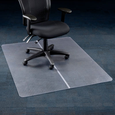 "Interion® Office Chair Mat for Carpet - 46""W x 60""L - Straight Edge"