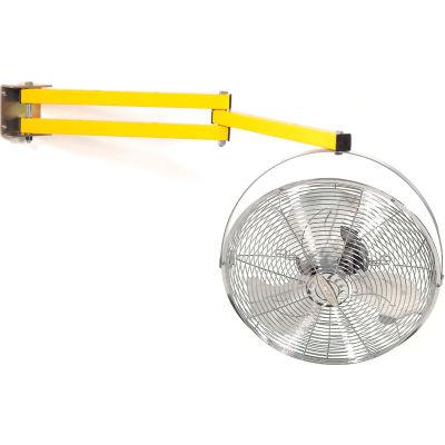 "Wesco Dock Fan With 40""L Double Arm, 2 Speed, 4000 CFM, 115V"