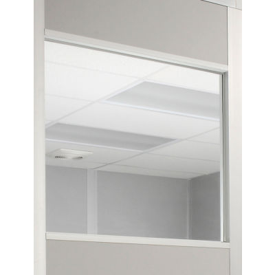 """Window For 4' Panel, 1/4"""" Clear Tempered Safety Glass"""