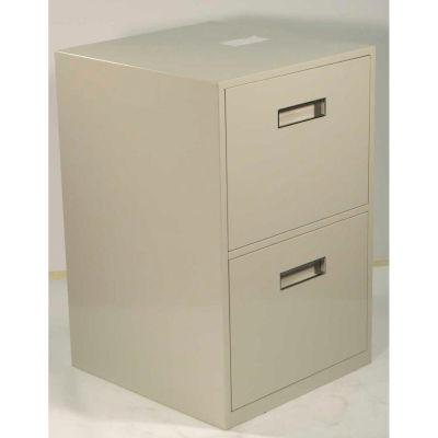 "Fenco Lowboy Teller Pedestal Cabinet 609-A - 2 Legal Drawers 18""W x 19""D x 27-7/8""H Champagne"