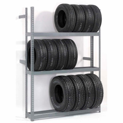 "Global Industrial™ 3 Tier Single Entry Tire Rack 60""W x 18""D x 84""H"