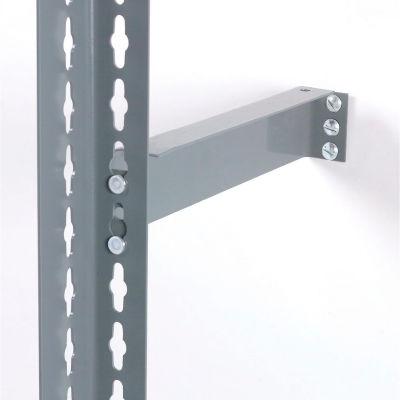 "Global Industrial™ 12"" Wall Bracket - Gray"