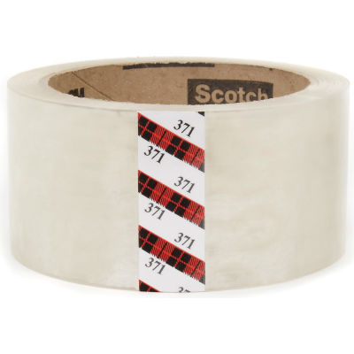 "3M™ Scotch® 371 Carton Sealing Tape 2"" x 55 Yds. 1.8 Mil Clear - Pkg Qty 36"
