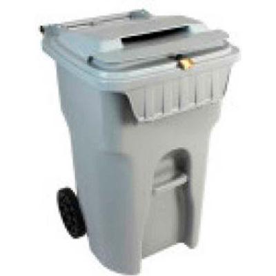 HSM® 64-Gallon Mobile Shredder Bin - Gray