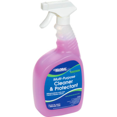 Global Industrial™ Multi-Purpose Cleaner/Protectant, 32 oz. Bottle, 6 Bottles
