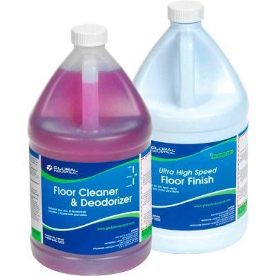 Global Industrial™ Floor Cleaning Kit - Floor Cleaner & Finish - Case Of Two 1-Gallon Bottles