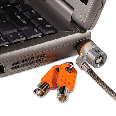 Kensington® 64068 MicroSaver® Keyed Laptop Lock with 6 ft. Cable, Black/Gray