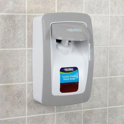 Global Industrial™ Hand Soap Starter Kit W/ FREE Dispenser - White/Gray