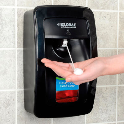 Global Industrial™ Automatic Dispenser for Foam Hand Soap/Sanitizer - Black