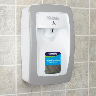 Global Industrial™ Hand Sanitizer Starter Kit W/ Automatic Dispenser - White/Gray