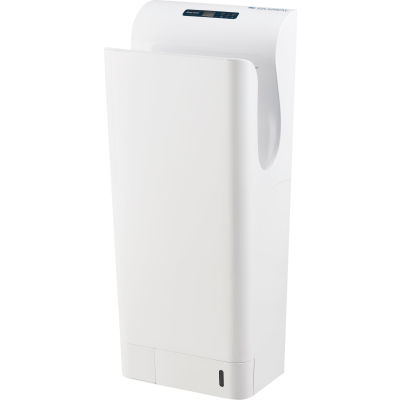Global Industrial™ High Velocity Vertical Automatic Hand Dryer W/ HEPA Filter, White, 110-120V