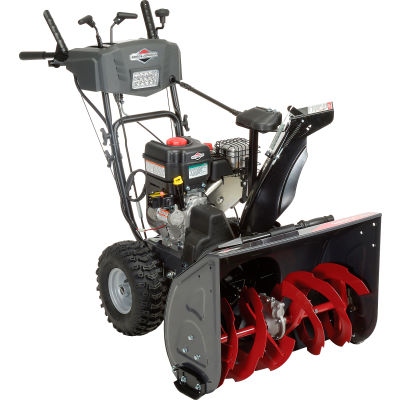 """Briggs & Stratton Medium Duty Dual-Stage Stage Snow Thrower W/ Electric Start, 27"""" Clearing Width"""