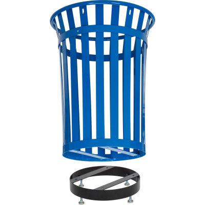 Global Industrial™ Steel Slatted Trash Can Base, Black