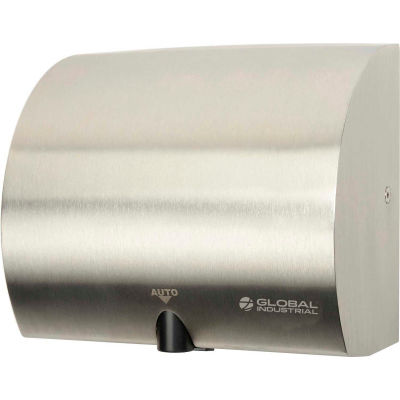 Global Industrial™ High Velocity Automatic Hand Dryer - Stainless Steel