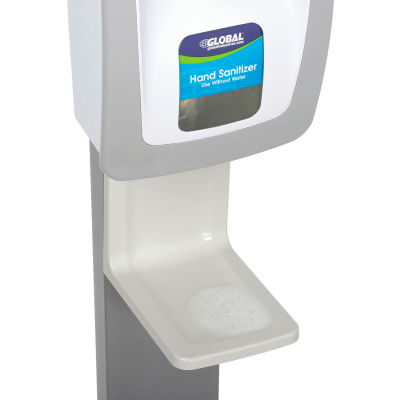 Global Industrial™ Drip Tray for Manual/Automatic Dispensers, Gray