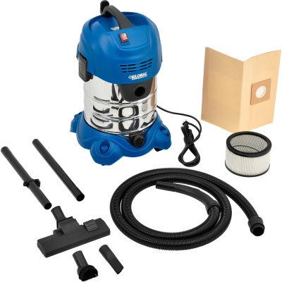 Global Industrial™ Stainless Steel Wet/Dry Vacuum, 6.6 Gallon Cap.