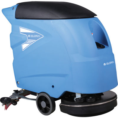 """Global Industrial™ Auto Walk-Behind Floor Scrubber, 18"""" Cleaning Path"""