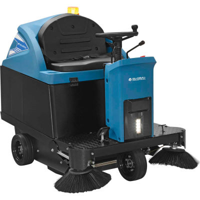 """Global Industrial™ Auto Ride-On Sweeper, 49"""" Cleaning Path"""