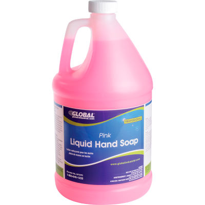 Global Industrial™ Liquid Hand Soap, Pink - Case Of Four 1 Gallon Bottles