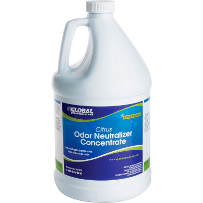 Global Industrial™ Odor Neutralizer Concentrate, Citrus - Case Of Four 1 Gallon Bottles