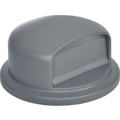 Global Industrial™ Plastic Trash Can Dome Lid - 32 Gallon Gray