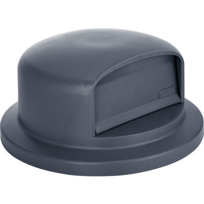 Global Industrial™ Plastic Trash Container Dome Lid, Garbage Can Dome Lid - 44 Gallon Gray