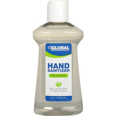 Global Industrial™ Alcohol Gel Hand Sanitizer - 8.45 oz. Disc Top Bottle  - Pkg Qty 24