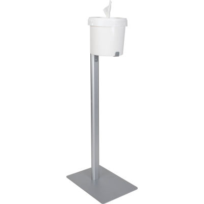 Global Industrial™ Bucket Wipe Dispenser Stand-For Use With Spilfyter Wipe Bucket 641492/641543