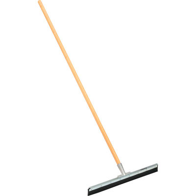"""Global Industrial™ 24"""" Straight Floor Squeegee With Wood Handle - Pkg Qty 4"""