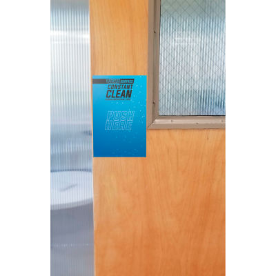 """Global Industrial™ V-Guard Constant Clean Antimicrobial Door Push Pad, 6"""" x 9"""", 10/Pack"""