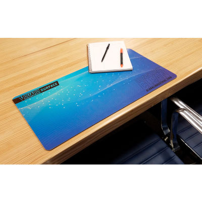 """Global Industrial™ V-Guard Constant Clean Antimicrobial Desk Mat, 32"""" x 12"""", 3/Pack"""
