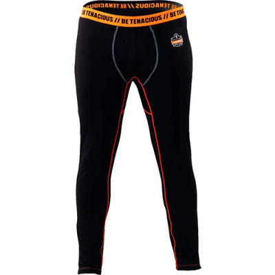 Ergodyne N-Ferno® 6480 Thermal Base Layer Bottoms, Black, Large