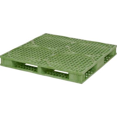 ORBIS Deluxe 4-Drum Pallet 48 x 48HDDRM - 48 x 48 Green