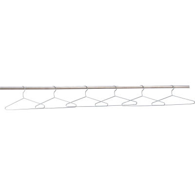 Global Industrial™ Coat Hangers Chrome Plated Pkg of 6