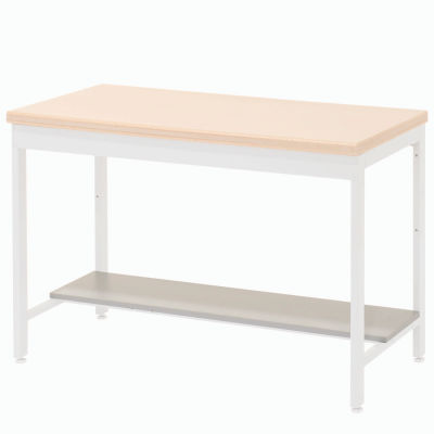"Global Industrial™ Lower Shelf Plastic Laminate for Euro Bench- 48""W x 12""D - Gray"