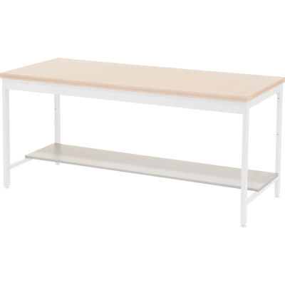 """Global Industrial™ Lower Shelf Plastic Laminate for Euro Bench- 72""""W x 16""""D - Gray"""