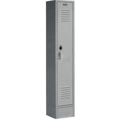 """Global Industrial™ Paramount® Single Tier 1 Door Locker, 12""""Wx12""""Dx60""""H, Gray, Unassembled"""