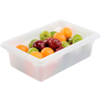 Rubbermaid 3509-00 White Plastic Box 3.5 Gallon 18 x 12 x 6 - Pkg Qty 6