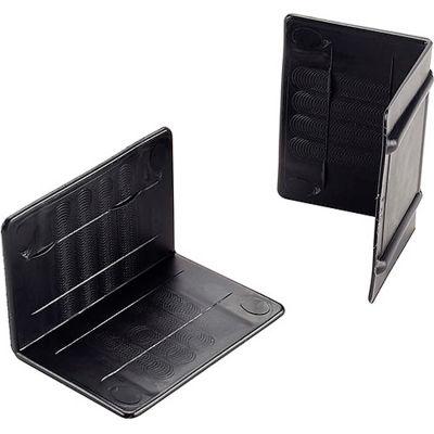 """Plastic Strap Guards 2-1/2""""W x 1-3/4""""L Black, 1000 Pack"""