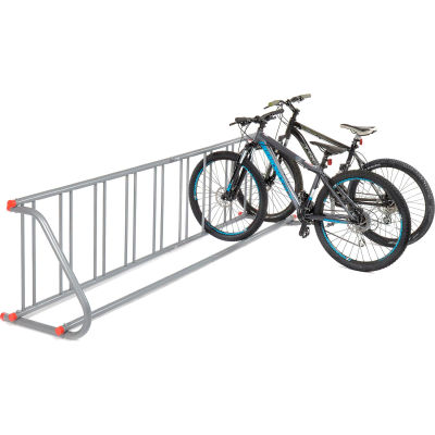 Global Industrial™ Grid Bike Rack, 9-Bike, Single Sided, Powder Coated Steel