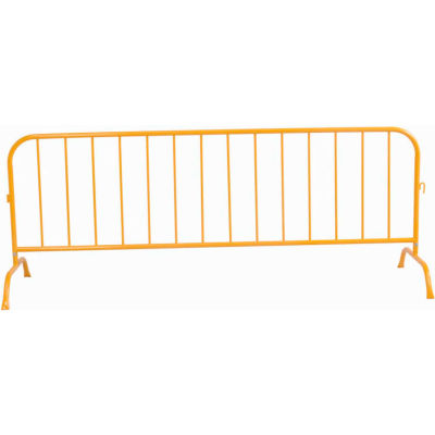 """Global Industrial™ Crowd Control Barrier Powder Coated Yellow 102""""L x 40""""H x 1-1/4"""" Dia."""