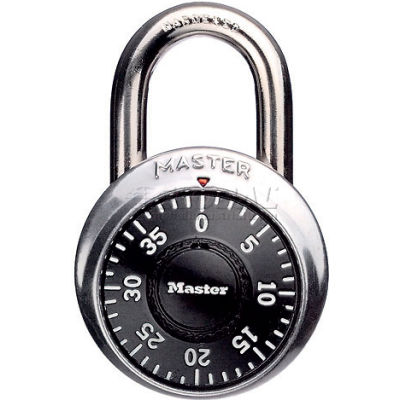 "Master Lock® Combination Padlock With 3/4"" Shackle, No Control Key Access - Pkg Qty 5"