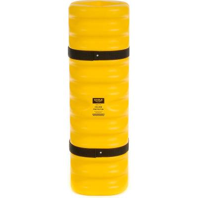"""Eagle Narrow Column Protector, 4""""- 6"""" Column Opening, 13""""O.D. x 42""""H, Yellow, 1704"""