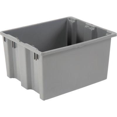 "LEWISBins SN2420-13 Polyethylene Container 24""L x 20""W x 13""H, Gray - Pkg Qty 5"