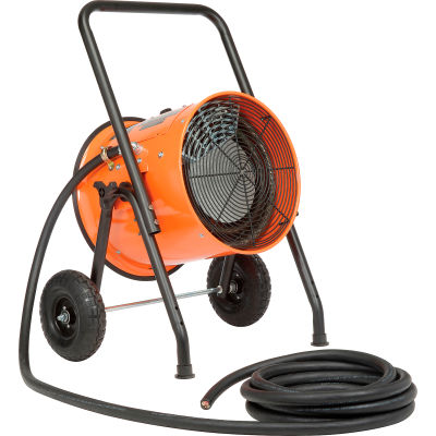 Global Industrial™ 30 KW Portable Electric Salamander Heater 480V, 3 Phase With 25'L Power Cord