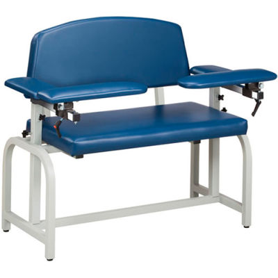 Clinton™ 66000 Lab X Series Extra-Wide Blood Drawing Chair with Padded Arms