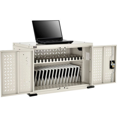 Global Industrial™ 16-Device Charging Cabinet for Chromebooks and Tablets, Putty, Unassembled