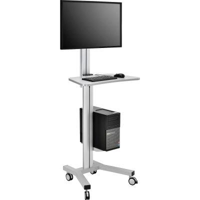 Global Industrial™ Mobile Height Adjustable Desktop Computer Workstation