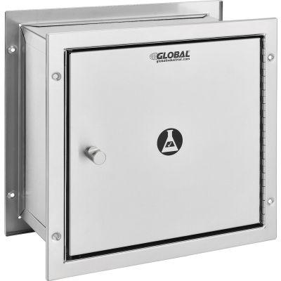 "Global Industrial™, Recessed Specimen Pass-Thru Stainless Steel Cabinet, 12-3/4"" x 6"" x 13-1/4"""